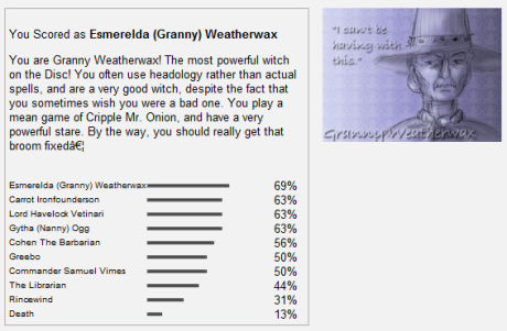 You are Granny Weatherwax